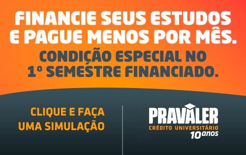 Banner central - Pravaler - Financie seus estudos e pague menos por mês