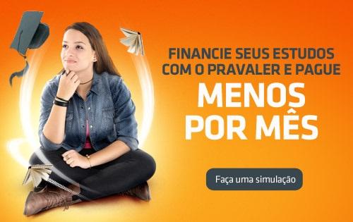 Banner central - PRAVALER Financiamento estudantil