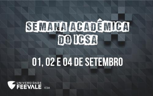 banner semana acadêmica ICSA