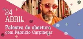 Banner central - TRAMER - Palestra de abertura com Fabrício Carpinejar dia 24 de Abril