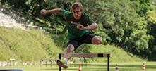 Atleta Guilherme Scolari treinando