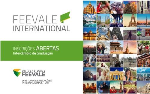 Banner Central - Feevale Internacional - Intercâmbio de Graduação inscrições abertas