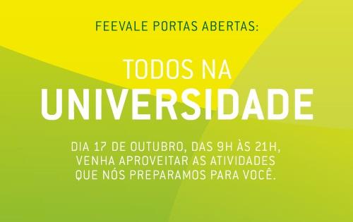 Banner Feevale Portas Abertas 2015
