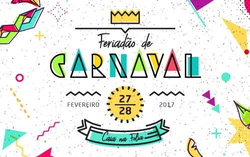 Banner central - Feriadão de carnaval