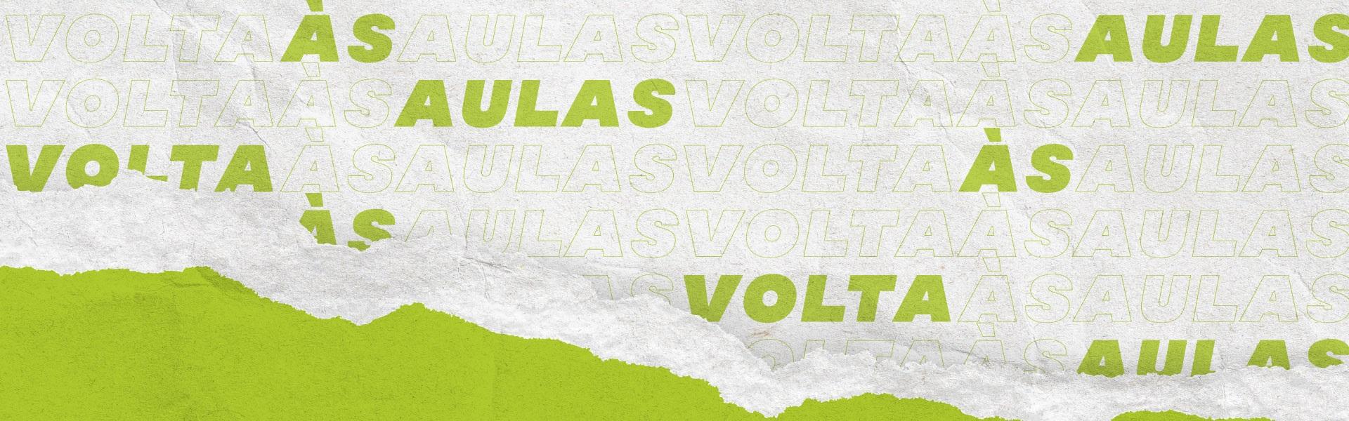 Banner Volta as Aulas