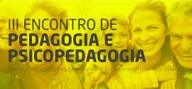 Banner de apoio - III Encontro de Pedagogia e Psicopedagogia