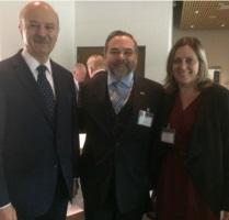 Reza Moridi, Marcelo Sarkis e Daniela Eckert.