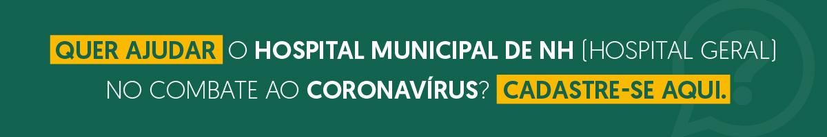 Banner central - Banner de apoio - Juntos pelo combate ao coronavírus - Voluntários para o Hospital Geral