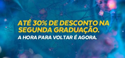 Banner central - até 30% de desconto na segunda graduação