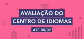 Banner central - Avaliação do centro de idiomas 2017.01
