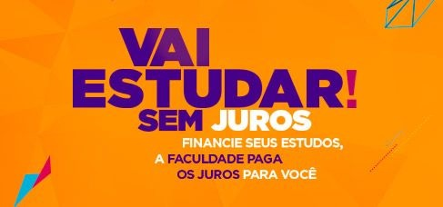 banner central - Vai Estudar sem juros Financie seus estudos