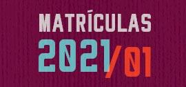 Banner de apoio - Matrículas 2021/01