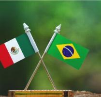 Bandeiras Brasil Máxico