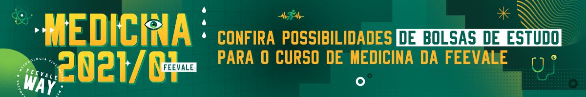 Banner central - Medicina 2021/01 - confira possibilidades de bolsas de estudo