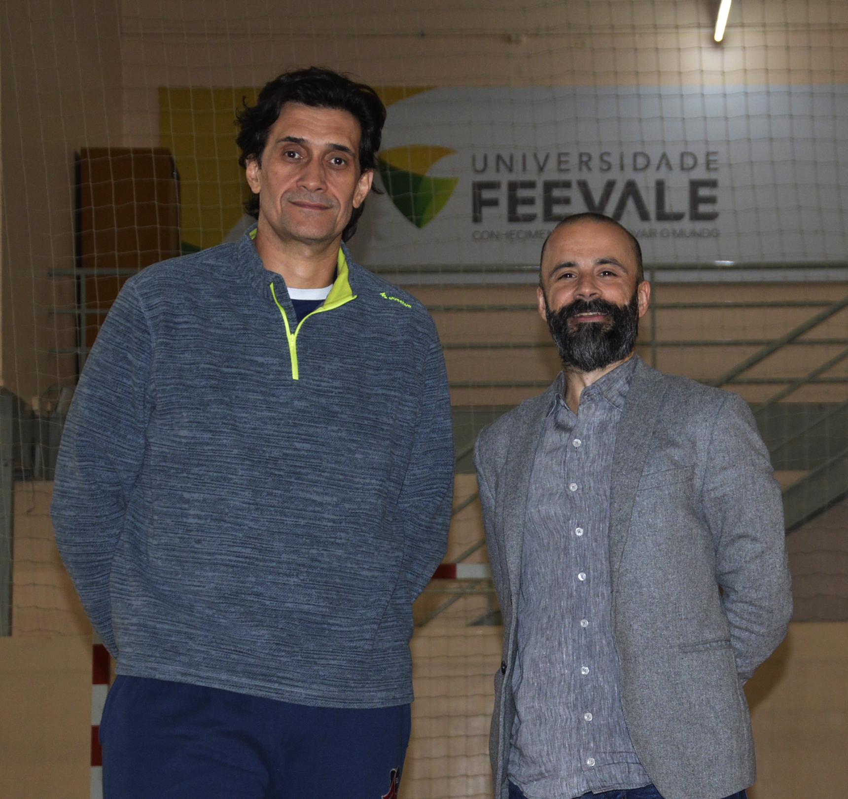 Fernandão foi apresentado pelo gestor do Programa Esporte Universitário da Feevale, Marcelo Curth