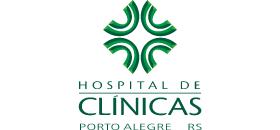 Banner central de apoio - Logo Hospital de Clínicas Porto Alegre