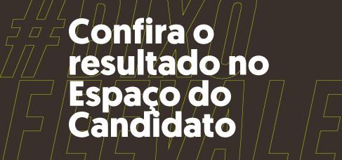 Banner central - Confira o resultado do Vestibular no Espaço do Candidato