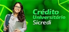 Banner de apoio - Credito Universitário Sicredi