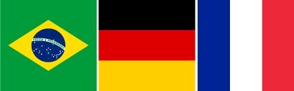 Imagem central - Brasil, Alemanha e França