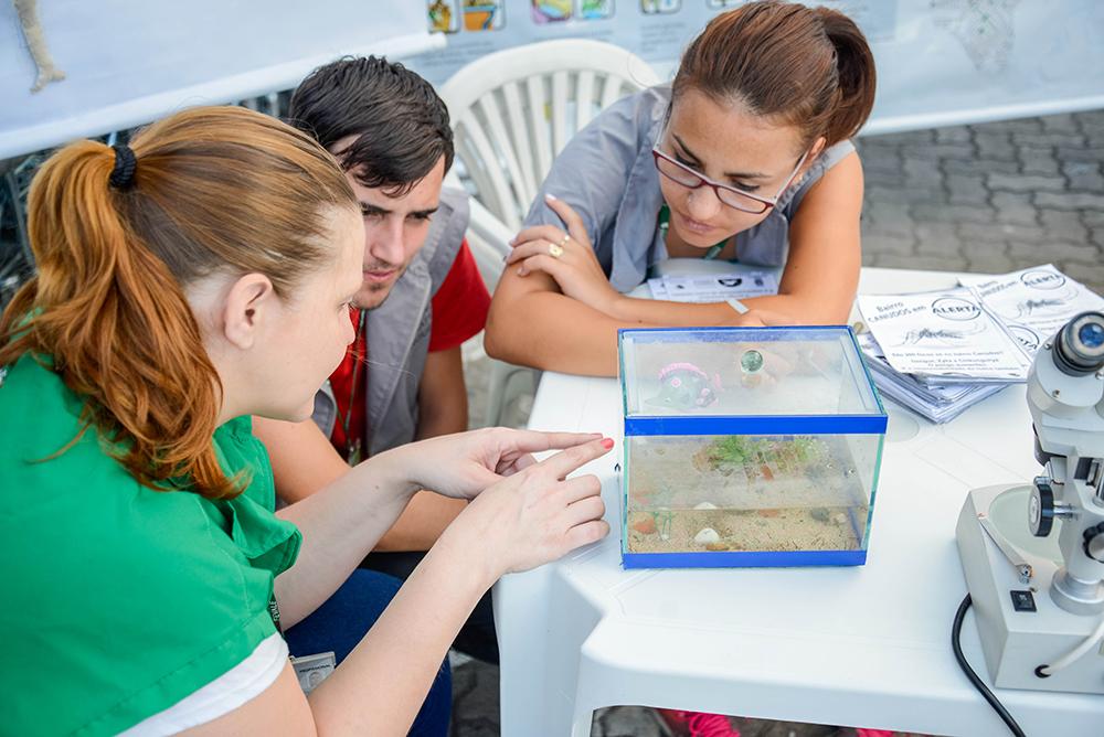 Atividade educativa do projeto Dengue