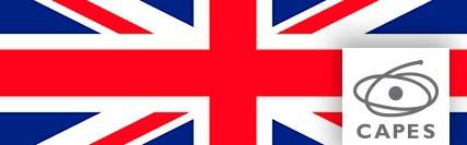Banner central - Bandeira da Inglaterra e logo da Capes