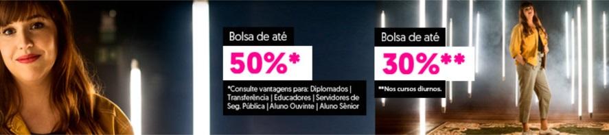Banner central - Vestibular Feevale - bolsas de estudo de até 50%, consulte.