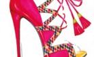 Desenho estilizado de calçados