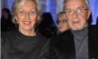 Com a esposa Dóris, em desfile do Projeta-me (2010)
