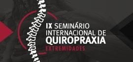 Banner IX Seminário Internacional de Quiropraxia