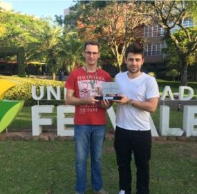 Professor Fábio Piran e Ivan Silva