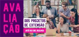 Banner de apoio - Avaliação dos projetos de extensão