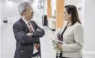 Tavares com a diretora de Relações Internacionais e Institucionais, Paula Casari Cundari