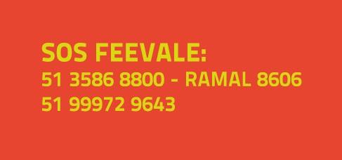Banner central - SOS Feevale: 51 3586 8800 - ramal 8606 | 51 99972 9643