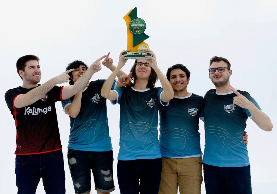 Unisinos Ducks: faturou o título na categoria Open. Crédito: curso de Jogos Digitais/ Feevale